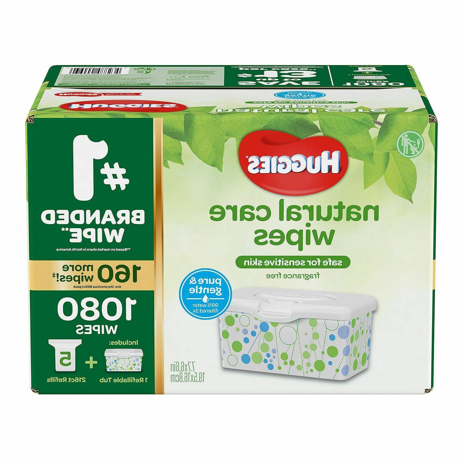 Huggies Natural Care Baby Wipe Refill, Fragrance Free