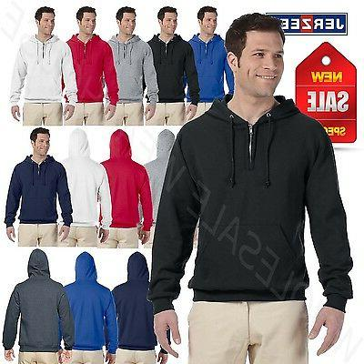 NEW Jerzees 8 oz 50/50 NuBlend Fleece Quarter Zip Pullover 2