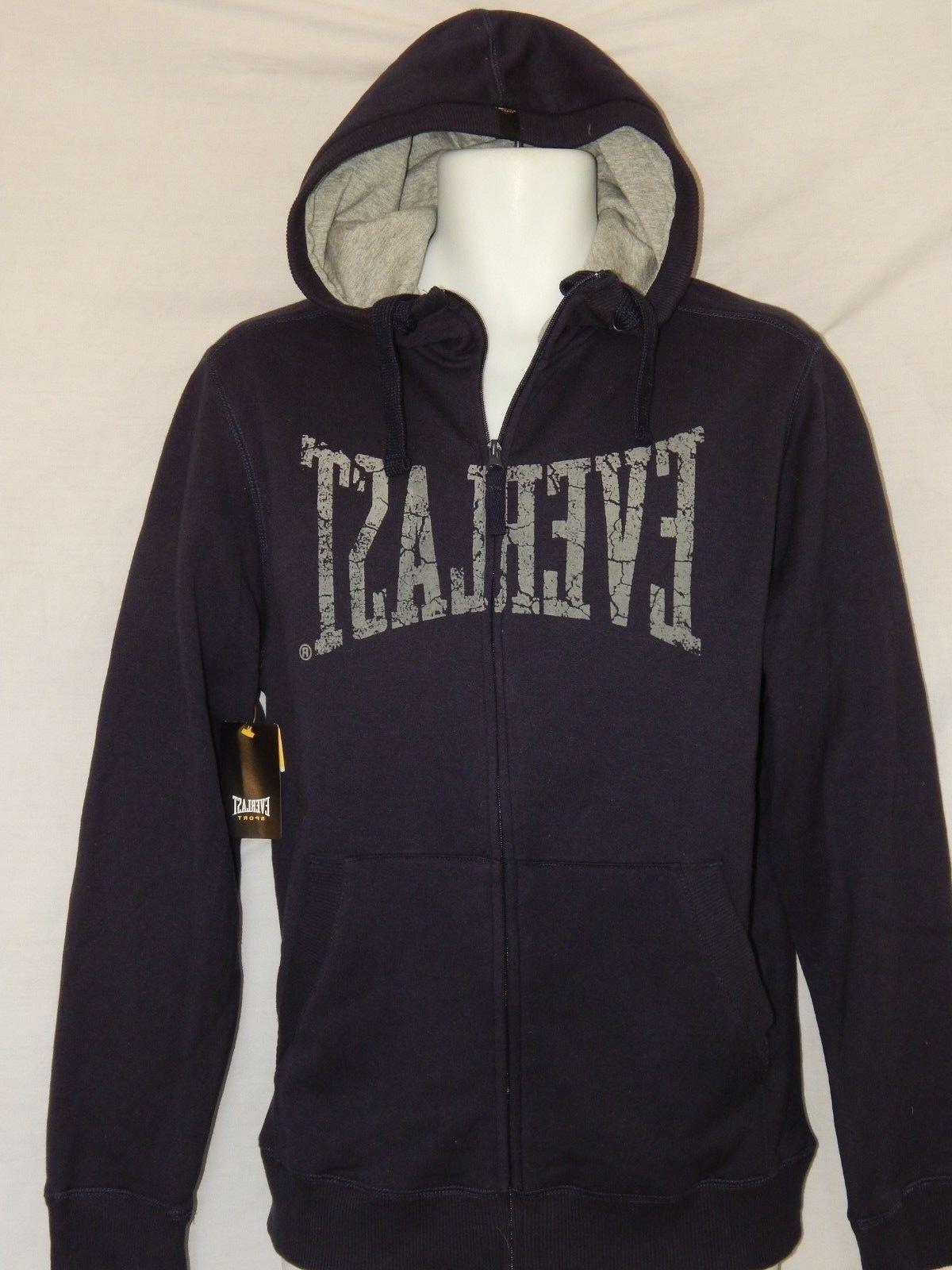 NEW Everlast Hoodie Shirt Sweatshirt Zip Up Vintage MMA Jack