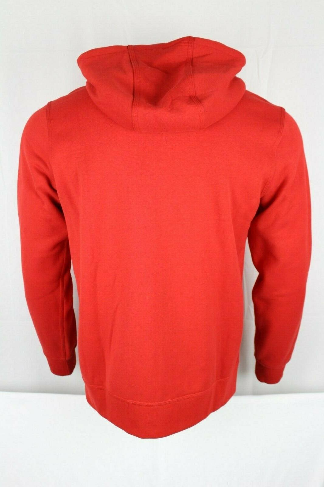 New Nike Club Full Zip Red Hoodie Sweatshirt