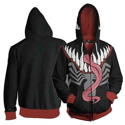 new mens 3d spiderman venom carnage cosplay