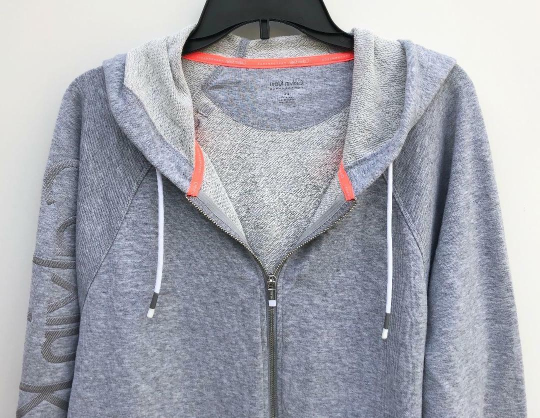 NEW Relaxed Cropped Full Zip Hoodie Jacket Gray