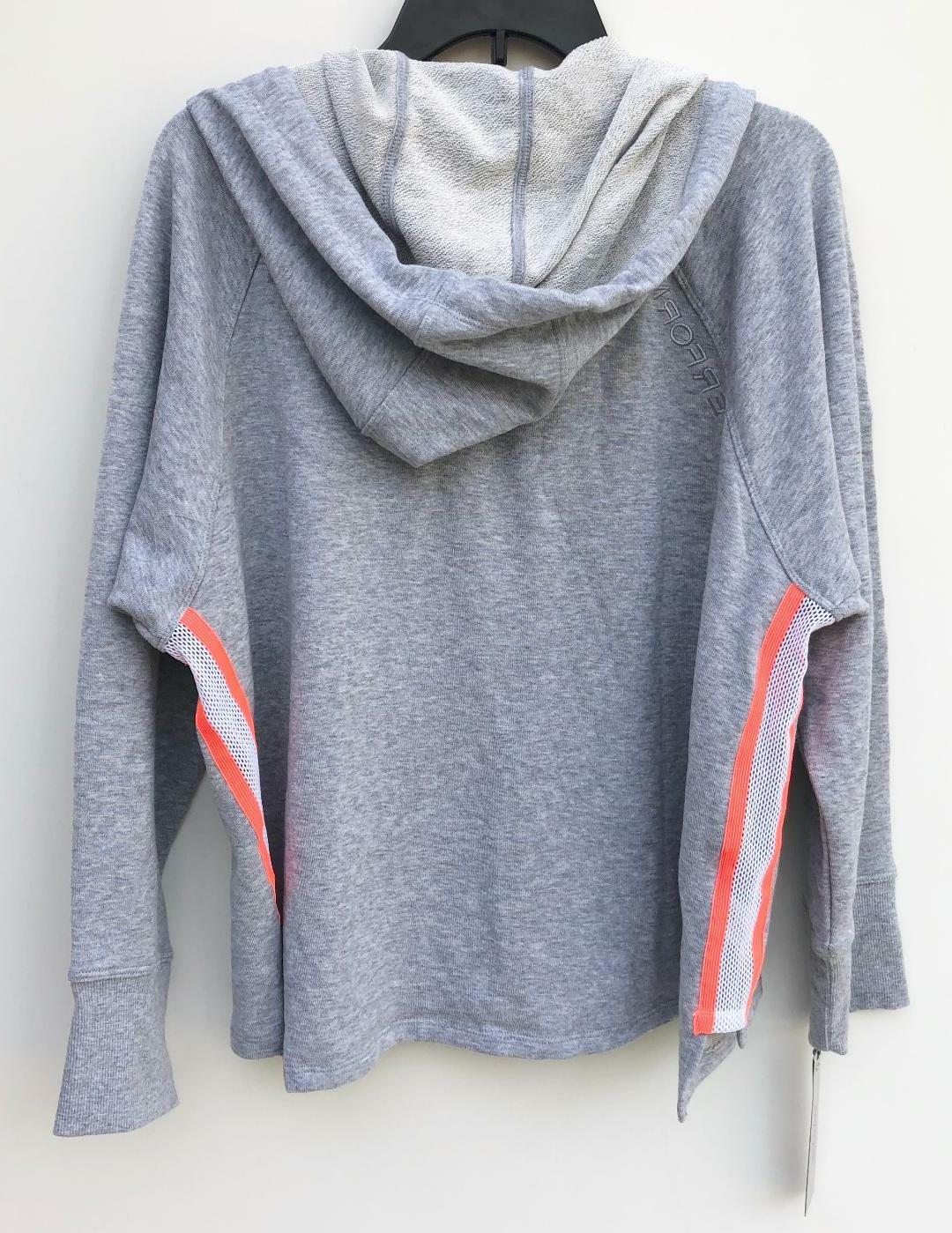 NEW Performance Relaxed Cropped Hoodie Jacket Gray