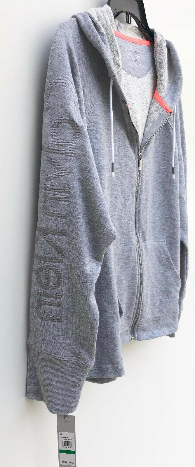 NEW Klein Performance Relaxed Full Zip Hoodie Gray