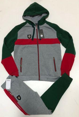 NEW Gucci Sweatsuit Top Bottom Hoodie + Sweat Zip