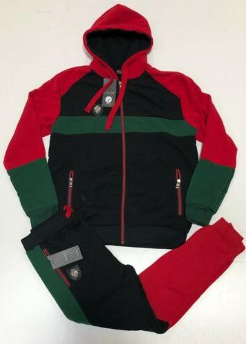 NEW Gucci Sweatsuit Top & Bottom Hoodie + Sweat Full Zip