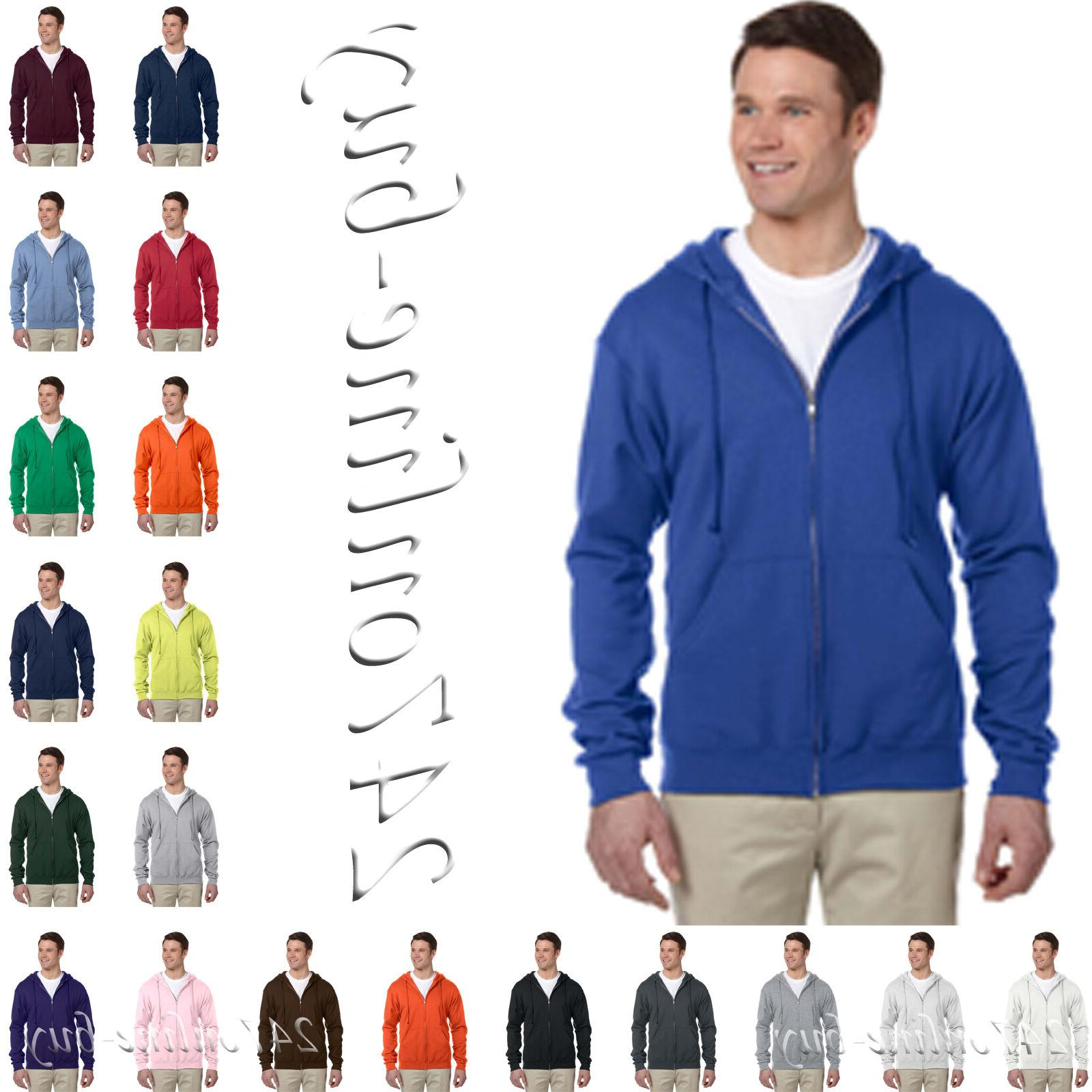 JERZEES NuBlend Full-Zip Hooded Sweatshirt Fleece Hoodie  99