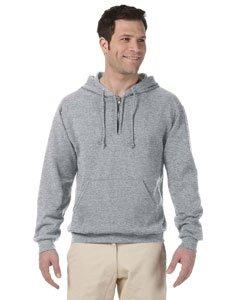 The Adult NuBlend Quarter-Zip Hooded Sweatshirt