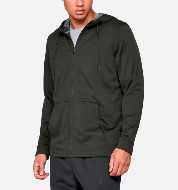 nwt 60 coldgear fleece full zip mens
