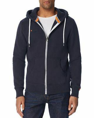 NWT Men's Superdry Orange Label Zip Hoodie Sweatshirt drawst