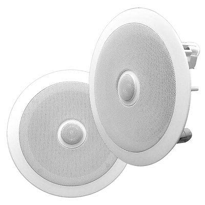 New PYLE PRO PDIC80 8/'/' 300W 2-Way In-Ceiling//Wall Speakers System Home White 2