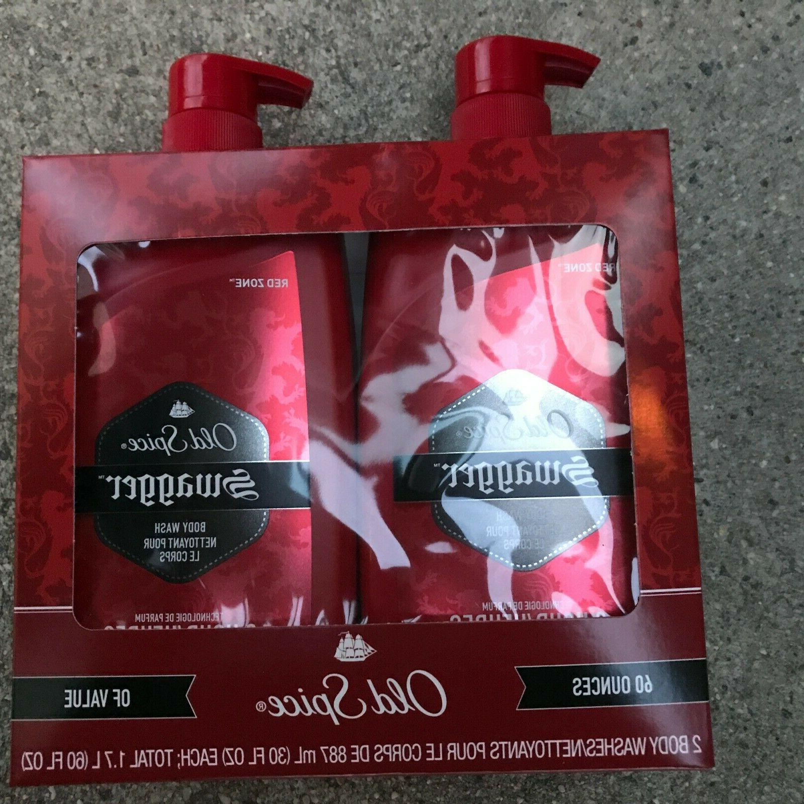 2 PACK | Old Spice Red Zone Swagger Scent Men's Body Wash 32