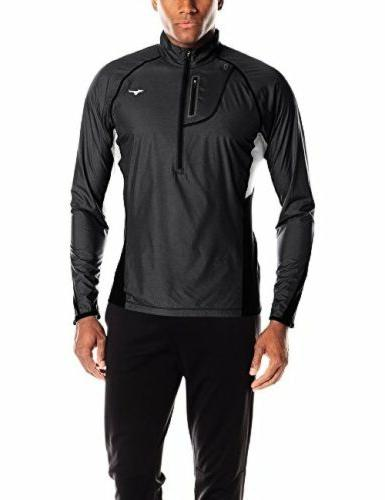 Mizuno Running Apparel Mens Breath Thermo Windtop Half Zip H