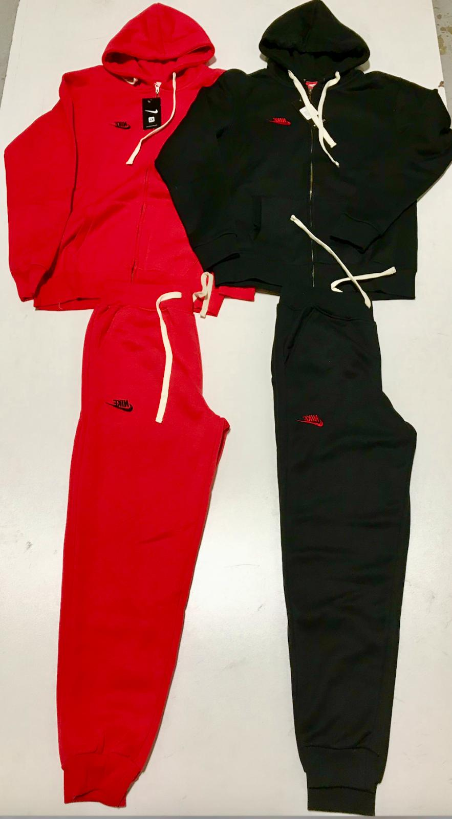 NIKE SWEAT SUIT ZIP UP AND COMPLETE SET SHIPPING