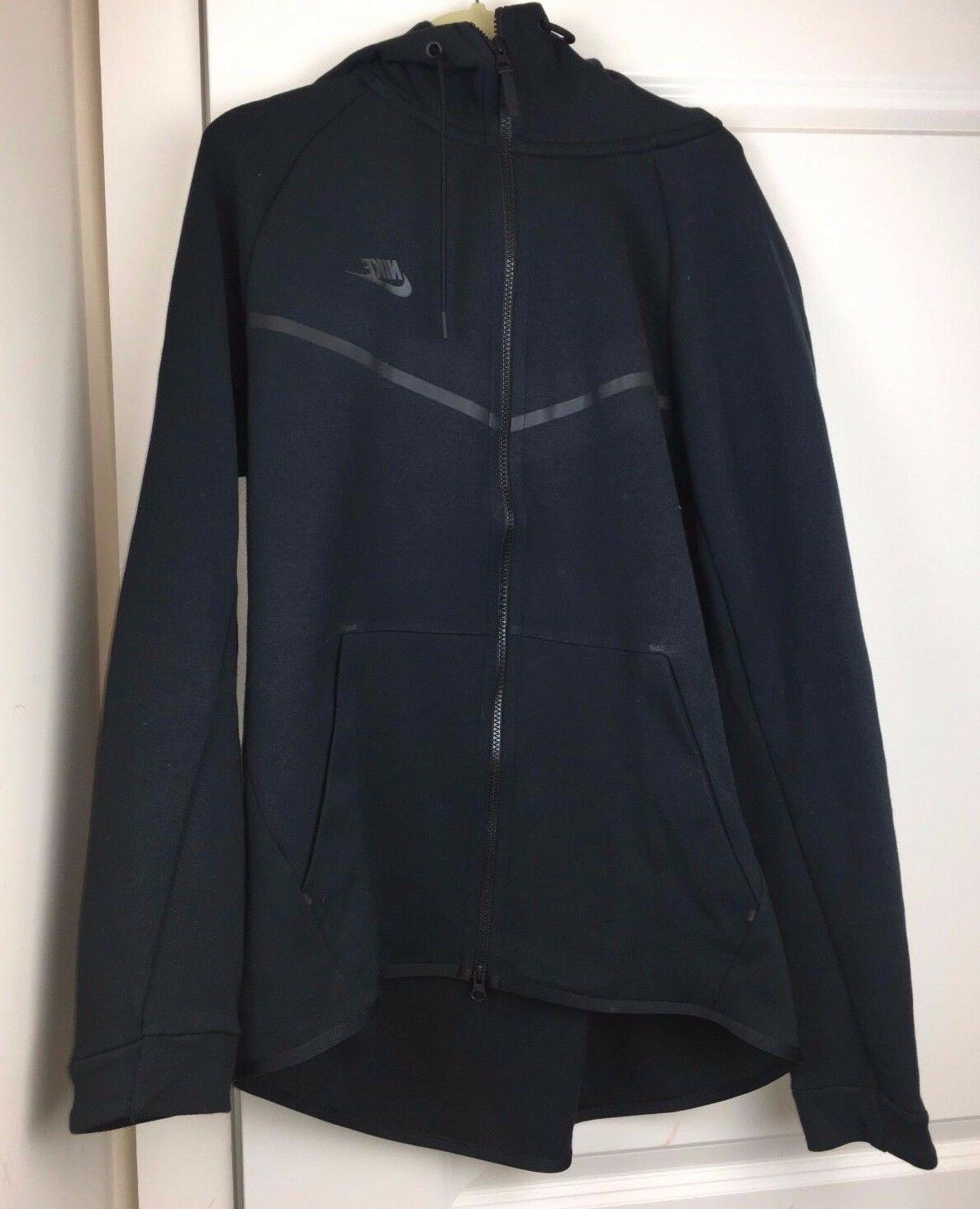 Nike Tech Fleece Windrunner Full Zip Hoodie Triple Black 805