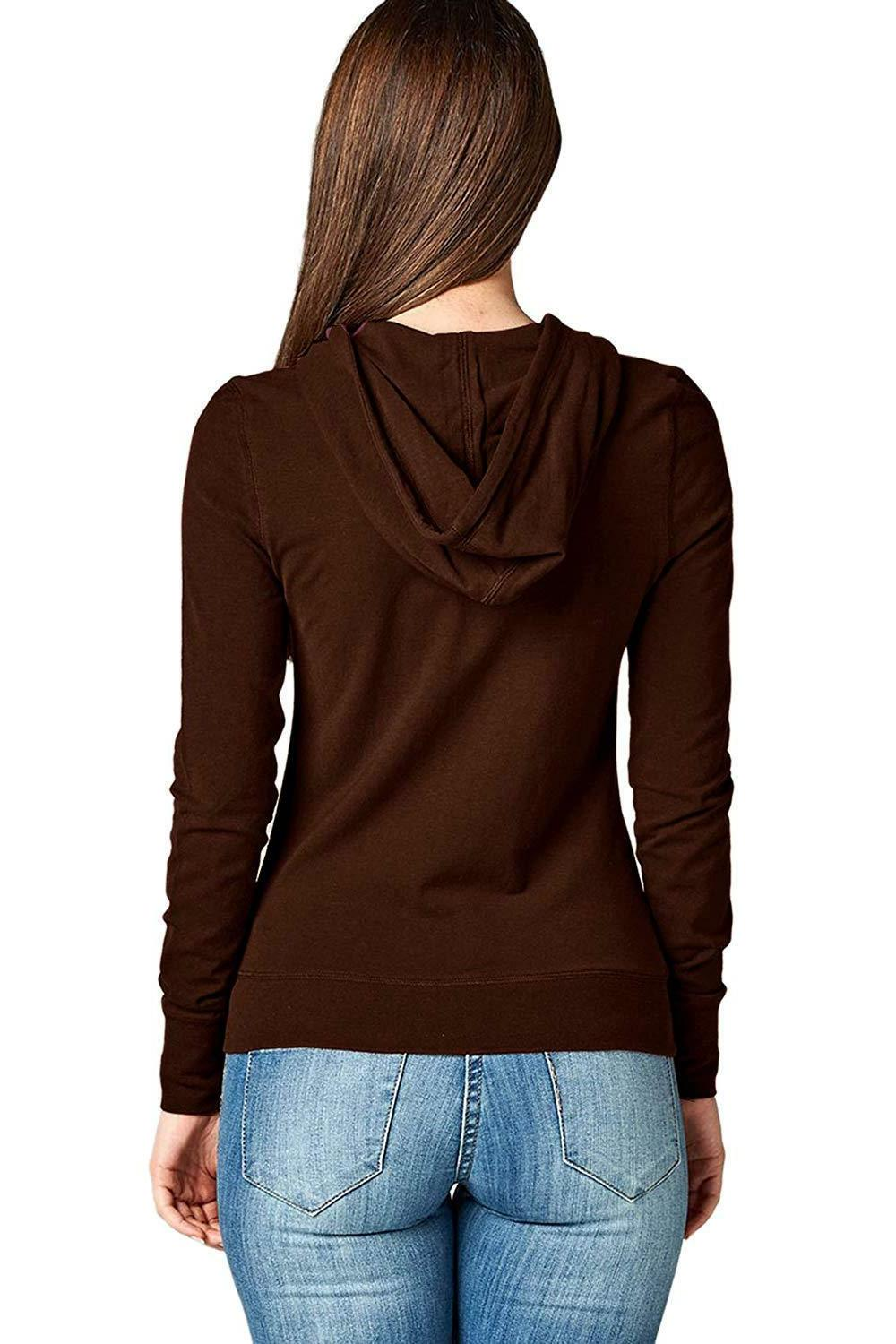 TL Women's Comfy Warm Knitted Casual Zip-Up Hoodie Jackets