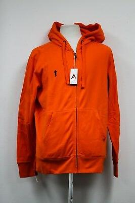 TOUGH MUDDER RUNNING MEN ATHLETIC GEAR FULL ZIP ORANGE HOODI