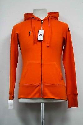 TOUGH MUDDER RUNNING WOMENS ATHLETIC GEAR ZIP UP ORANGE HOOD