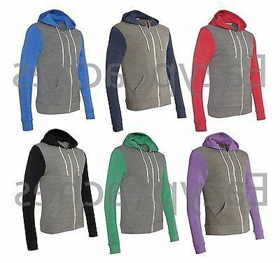 Alternative Apparel Unisex S-3XL ECO Full Zip-up Colorblock