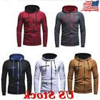 US Men's Hoodies Sweatshirts Zip Fleece Hooded Outerwear Win
