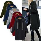 USA Warm Women Sweatshirt Long Sleeve Hoodie Cardigan Zip Up