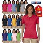 Jerzees Women's SpotShield Short Sleeve Solid Polo Shirt M-4
