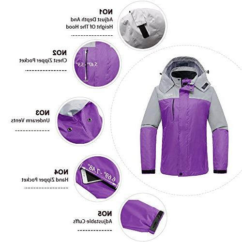 Wantdo Breathable Outdoor Zip Packable for Grey