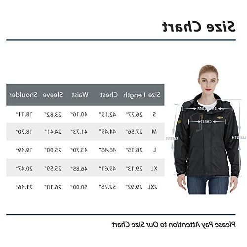 Wantdo Women's Outdoor Zip Windbreaker Packable Jacket Traveling Grey M