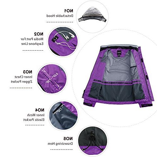 Wantdo Outdoor Full Zip Packable for Grey