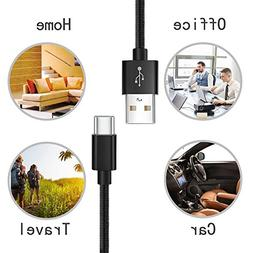 Lightning Cable, Basse  Durable Tangle-Free Nylon Braided Ch