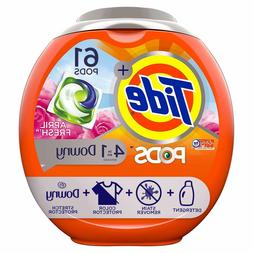 Tide Liquid Detergent PODS Plus Downy HE Turbo Laundry Deter