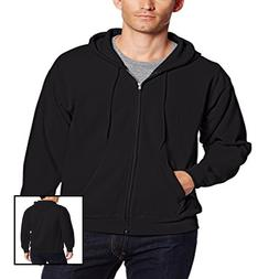 Men Full Zip EcoSmart Fleece Hoodie BLACK 3XLarge Sweater Ja