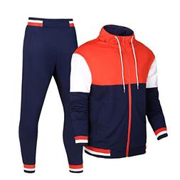 Sun Lorence Men's Active Hoodie and Jogger Pants Set Casual