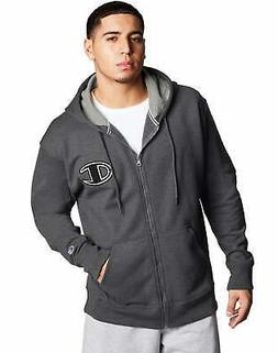 Champion Mens Full Zip Hoodie Sweatshirt Athletics Powerblen