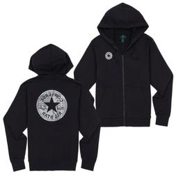 Converse Men's Chuck Patch Graphic Front Zipped Hoody Black