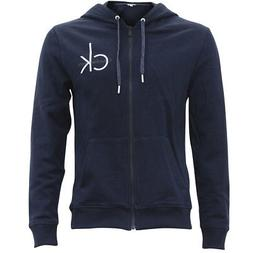 Calvin Klein Men's Classic Navy Full Zip Long Sleeve Hoodie