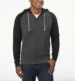 Champion Men's Color Block Full Zip Hoodie,Charcoal Heather/