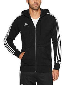 essentials 3 stripe zip fleece