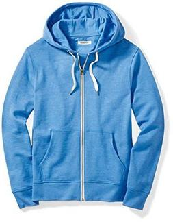 Goodthreads Men's French Terry Full-Zip Hoodie, Blue Calm, L