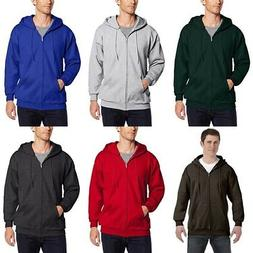 Hanes Men's Full Zip Ultimate Heavyweight Fleece Hoodie Plai