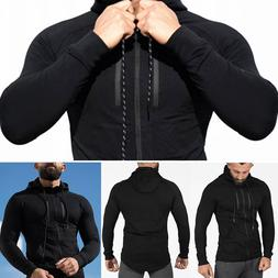 Men's Hoodie Singlets Top Sweatshirts Stringer Fitness Zip T