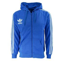 Adidas Men's Originals Trefoil Hoodie Zip On Sweatshirts Roy