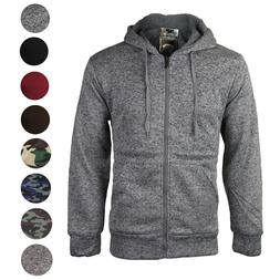 Men/'s Premium Athletic Soft Sherpa Lined Fleece Zip Up Hoodie Sweater Jacket