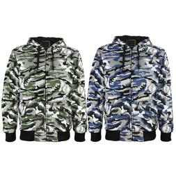 Men's Premium Athletic Soft Sherpa Lined Slim Fit Camouflage