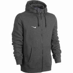 Nike Men's Sportswear Club Fleece Full Zip Charcoal Hoodie