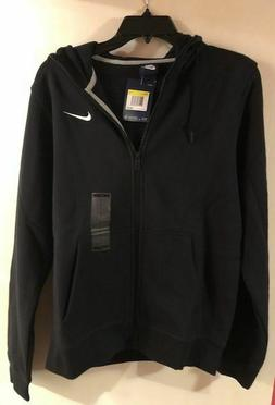 Nike Men's Sportswear Full Zip Black Hoodie- Size Small #823