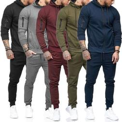 Men's Tracksuit Set Hoodie Top + Bottoms Casual Sports Runni