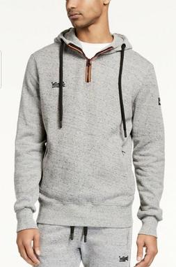 Superdry Men's Urban Grey Grit 1/4 Zip Pullover Hoodie