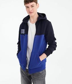 aeropostale mens a87 colorblocked full-zip hoodie