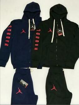 MENS AIR JORDAN NIKE  SWEATSUIT HOODIE AND JOGGERS ZIP UP CO
